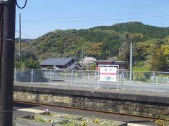 佐々駅は駅名標に「河津桜とシロウオの里」と愛称が書いてありました。 確かに駅周辺の川沿いの桜並木はとても綺麗でしたのでお勧めです。
