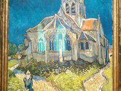 入場チケットは11ユーロ(1485円)彼女は2日券を買っていました。 「オーヴェルの教会」  ゴッホ 1890年 イルドフランス地域圏の村 オーヴェル・シュル・オワーズの教会が題材です。10週間後に彼は拳銃自殺しました。