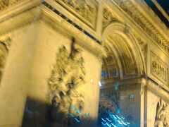 凱旋門 パリ最後の夜です。