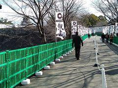 加藤神社に通じる特別公開用の通路。