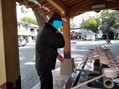 加藤神社の手水口;ここで手と口を清めて