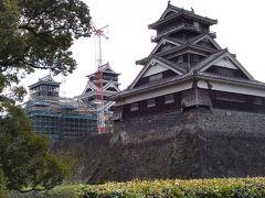 宇土櫓。2018年の震災でも倒壊しなかった5階建。国指定重要文化財。