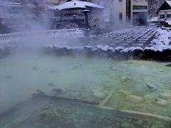これが有名な湯畑ですね。