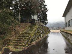 増島城跡。 本丸櫓台跡の石垣。