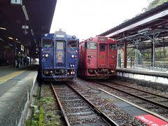 人吉駅 ここで「やませみ・かわせみ号」に乗り換える。