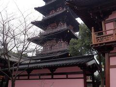 寒山寺の五重塔。