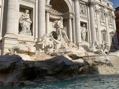 トレヴィの泉。 1枚→またローマに来れる 2枚→好きな人と結婚できる 3枚→離婚できる という伝説があるらしい。 なので、コイン1枚投げました。