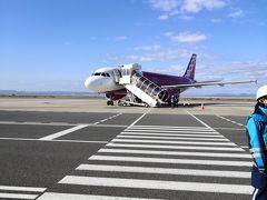 久しぶりのPeachで初の奄美大島へ  MM205 関空14:10 奄美16:05  小さな飛行機です