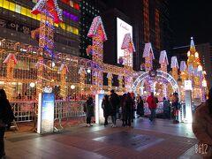 韓国ではクリスマスを過ぎてもイルミネーションが楽しめます! 見えた瞬間すごい!!きれい!!