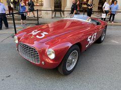 ローマ通りでクラシックなフェラーリの展示会をやっていましたー('ヮ' )