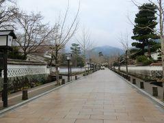 本町通りの雰囲気と変わりました。  「殿町通り」を歩きます。 この辺りは、江戸時代、上級家東臣の居住地だったそうです。