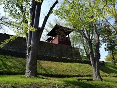 上田城二の丸石垣を濠跡の底から見上げる