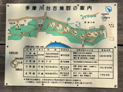 多摩川台古墳群の図 この図の右側に大きな亀甲山古墳、左側にも大きな蓬莱山古墳があるようです。