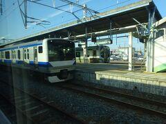 原ノ町駅。 首都圏側のE531系と仙台圏側のE721系が並んでる。