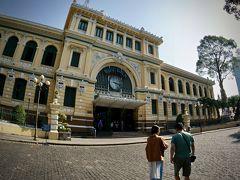 【XOツアー(ホーチミンシティ)、ホンンダガールとLets go==!!】  まずは、「サイゴン中央郵便局」へ~