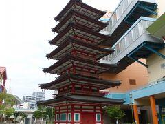 海老名中央公園に有る七重塔の模型 見事なものですが、これで1/3のサイズだそうです。