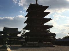 法隆寺五重塔と本堂1400年もの間、多くの人々に守られてきたと思うと感動します