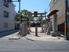 紀州街道に面している石津太(いわづた)神社