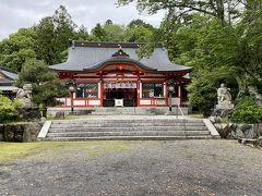 佐久奈度神社拝殿。