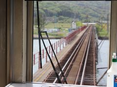 由良川橋梁 大きな川に架かった1本の橋を列車が渡るって、やっぱり珍しい気が~