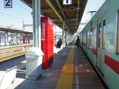 大善寺駅で西鉄甘木駅から乗って来た普通車から特急に乗り換えました。 ちなみにこの駅は(隣の安武駅と共に)現存する西日本鉄道最古の駅だそうです。