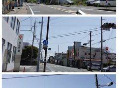 由比から蒲原に来ました。  画像の説明 上) JR東海道本線新蒲原駅横に来ました。 中) 蒲原の町並み 下) JR東海道本線蒲原駅駅前に来ました。  ※位置情報は、画像下付近です。