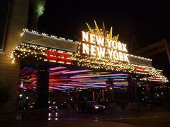 ラスベガスに戻ってきました。 今回宿泊する「ニューヨーク ニューヨーク」