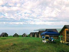 8/19 霧多布キャンプ場の朝です。 昨日に引き続きいい天気。