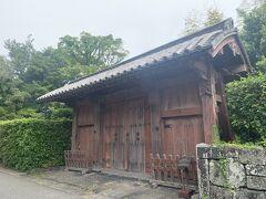 世界遺産の城下町エリアにある福原家屋敷門。
