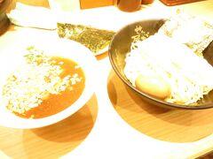 そして腹ごしらえは・・・  せたが屋のつけ麺大盛り!!  ラーメン大好きだけど・・・  魚介系スープが苦手なのでどうかなぁと思いきや、  意外と大丈夫でした