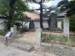 野山獄跡。吉田松陰が海外渡航に失敗して、入れられていた牢獄跡。