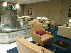 1日1便のために設けられた成田空港のエミレーツラウンジ。