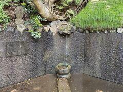 東京の名湧水57選にも選ばれているそうですが、だいぶ枯れてきているようで、いまはチョロチョロとしか出ていませんでした。