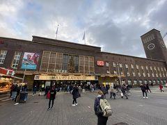 デュッセルドルフ中央駅に到着