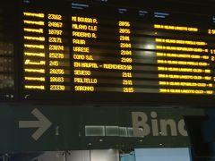 ウイーンまでの寝台列車はミラノ中央駅ではなく、昨夜行ったスーパーのあったポルタガリバルディ駅。ヨーロッパの主要駅は殆どターミナル駅でプラットホームが電子掲示板を見ていないと、番線がよく変更されるので気が抜けません。