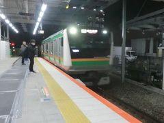 5:18 川崎駅です。 福島県に行くのですが‥ 逆方向.東海道線下り小田原行に乗ります。  ②普通725M.小田原行 川崎.5:19→小田原.6:21 [乗]JR東日本:サハE231-3031