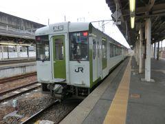 12:14 列車が遅れたので、乗り換え時間は2分です。 黒磯ダッシュして、新白河行のディーゼルカーに乗り換えます。  ⑥普通4137D.新白河行 黒磯.12:15→新白河.12:39 [乗]JR東日本:キハ112-101