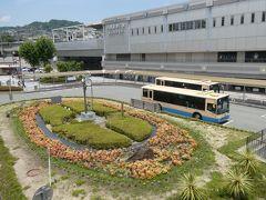 阪急川西能勢口駅の南口がスタート地点。 多田神社を参拝してから頼光寺(アジサイの寺)に向かうことにし、神社のすぐ前まで連れてってもらえる紫合行バスで出発。多田神社前を通るバスは本数が少ないので、時刻を確かめてから出かけるのが吉。