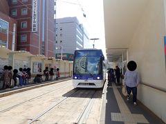 新型車両の乗り心地を味わいつつ 函館駅前で下車