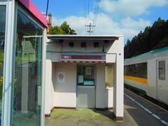 鳴子温泉駅から陸羽東線に乗り、堺田駅に着きました。