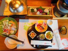 堺田駅へ歩いて戻り、陸羽東線で鳴子温泉駅に戻りました。 鳴子ホテルに戻って夕食です。