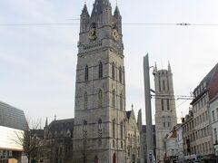 目の前には聖バーフ大聖堂。 は、まだ置いといて、聖バーフ大聖堂と聖ニコラス教会の間にある、