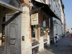 ここが目的地。「ル パン コティディアン」。 朝ご飯です。 東京にはお店あるんですけど、大阪にはありません。