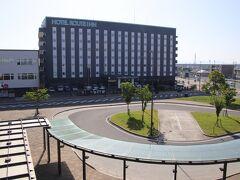 西鉄柳川駅から見たホテルルートイン柳川駅前