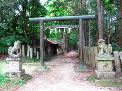 三の丸から千早神社への道が続いています。