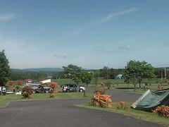こちらは五鹿山のキャンプ場です。6月ではありますが、カラッと暑くて家族連れが複数見られます。
