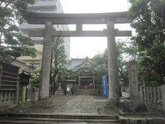 さて,駅から5分くらいの場所にある猿江神社に来ました