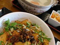 さて。おひるごはんです。やはり京都観光といえば「湯豆腐」ですね。私は豆腐丼です。へるしー。