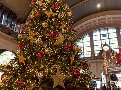 クリスマスマーケットへ行くため、駅の構内を通ることに☆ ここにもツリーがありました(^^)