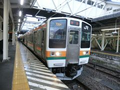 11:58 上尾から55分。 高崎に到着。 乗換時間は4分しかありません。 おまけにこの列車に乗らないと、水上からの列車に間に合いません。 急ぎ足で乗り換えます。  ④普通733M.水上行 高崎.12:02→水上.13:07 [乗]JR東日本:クモハ211-3003